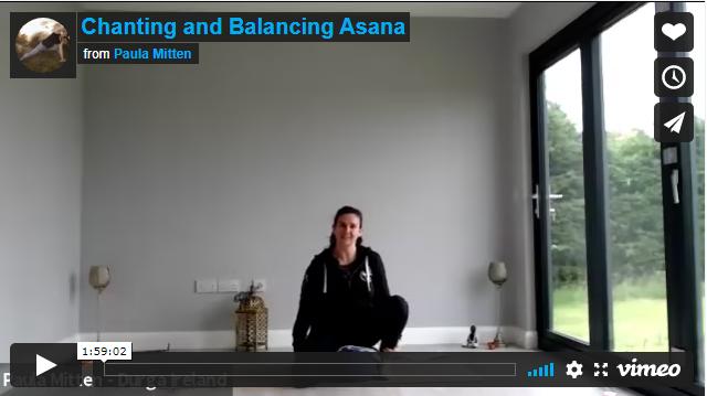 Chanting and Balancing Asana
