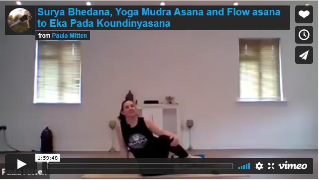 Surya Bhedana, Yoga Mudra Asana and Flow asana to Eka Pada Koundinyasana